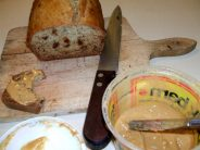 Peanut Butter on Marvelous Banana Bread