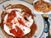 banana-strawberry pancakes Eugenio