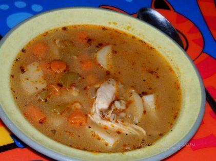 Barley Chicken Potato Soup