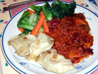 perogy chili veggies