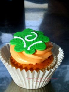 st patrick day cupcake