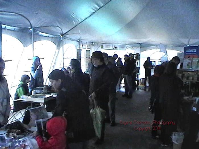 inside big tent