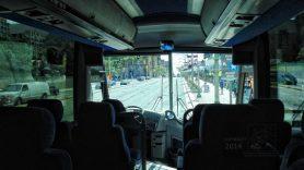Adventure bus interior view.