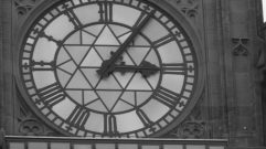 Peace Tower and its clock architecturally relate to each other.