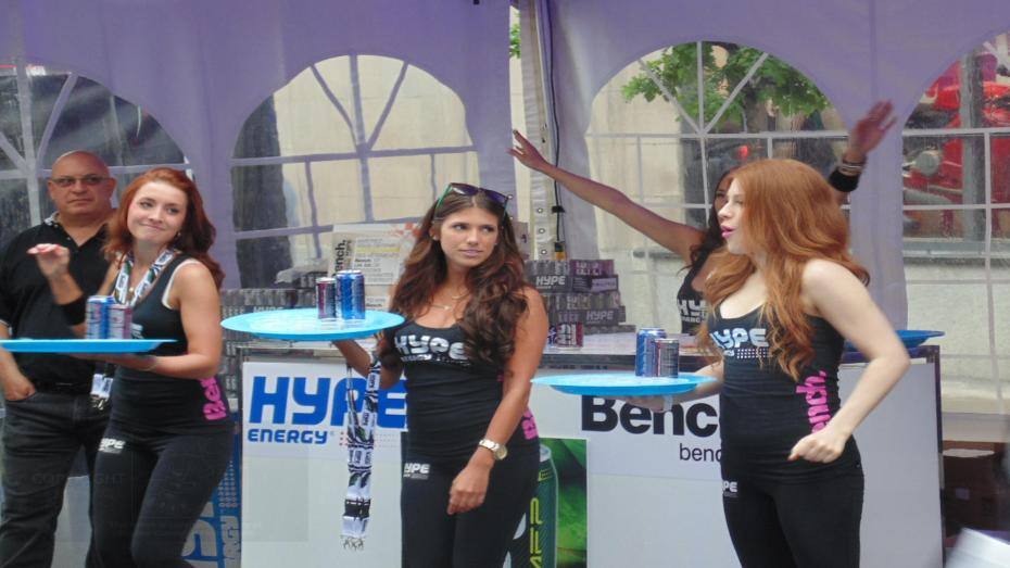 These young ladies were selling just more Hype during Montreal Grand Prix.