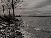 Lake Saint Louis whitecaps common when wind is blowing.