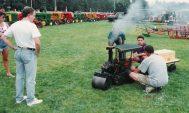It runs on steam explained the mini steam roller owner-builder.