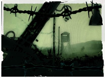 A symbol of totalitarianism is fields seeded with mines, barbed wire, and watchtowers.