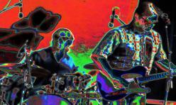 Terminator dawn band play incessant, rythmic, heavy metallic, penetrating, mind-destroying sound.