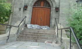 Canadian homeless situation began with 1980s cuts to affordable housing and welfare.