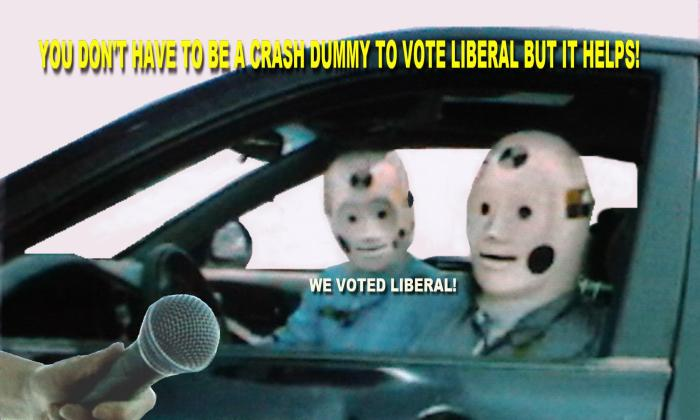 Dummies vote Liberal because today is their chance to make that choice.