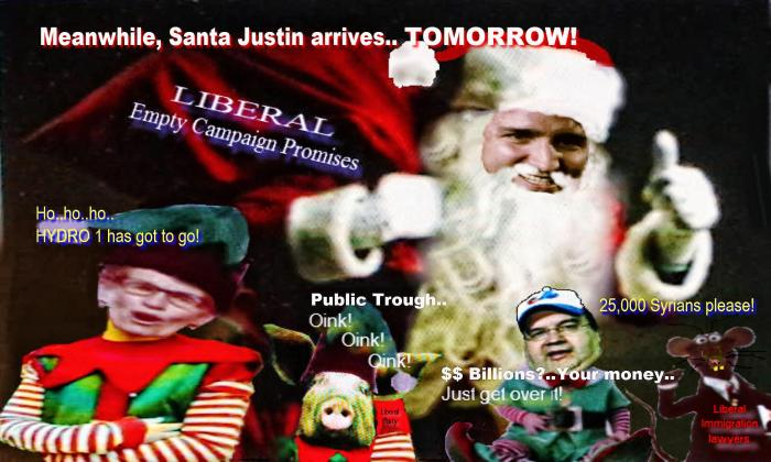 Ho-ho-ho, Santa Justin arrives tomorrow, better watch your wallet, be ready to cry.