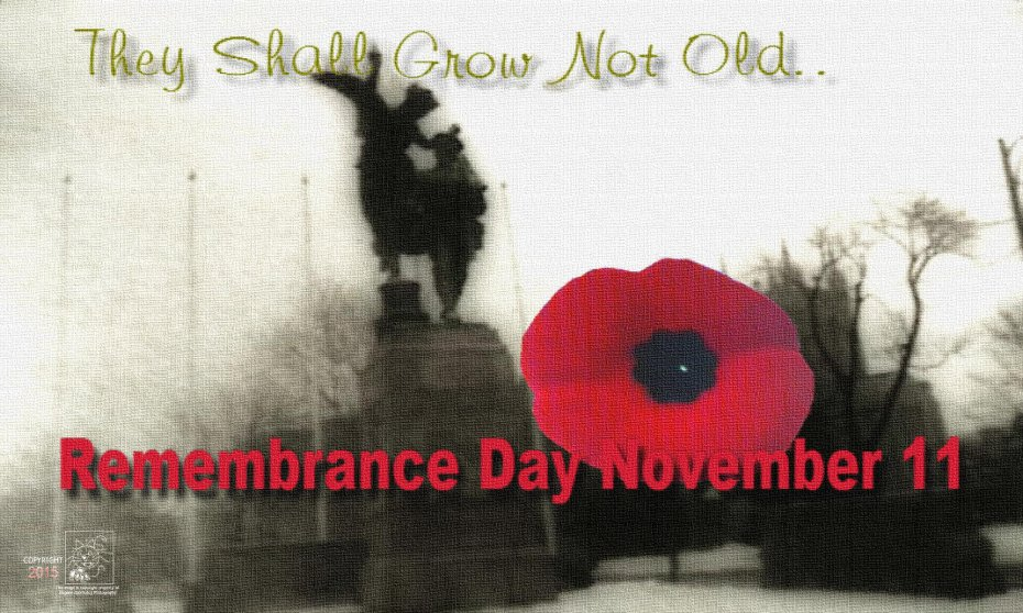 Remember November 11 because your freedom assured by Canadian veterans.