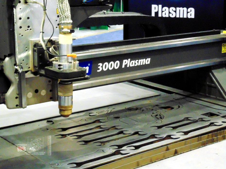 Accurate spare steel parts cut with Multicam 3000 plasma arc machine.