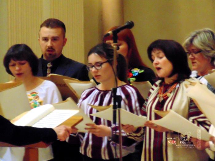 Choir sings at solemn memorial mass honoring Chernobyl's victims.