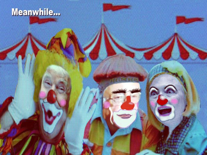 The political three-ring circus in USA is exciting entertainment still it's all smoke and mirrors.