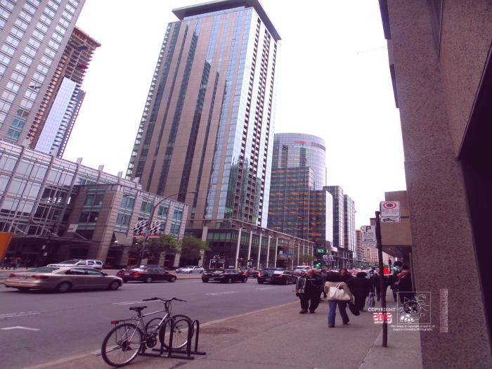 The concrete-glass monoliths city erases almost all traces of Montreal's past.