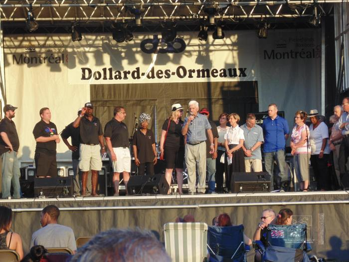 WI Jazz Festival journey ends with city politicians, organizers, minions and worthy groups on stage.