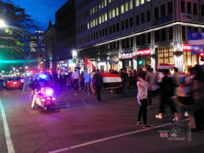 Unpredictable ethnic parade happened in evening during recent 2016 Montreal International Jazz Festival.