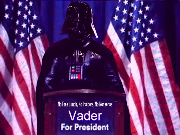 Dramatic news development..Darth Vader makes it official, enters race for US president.