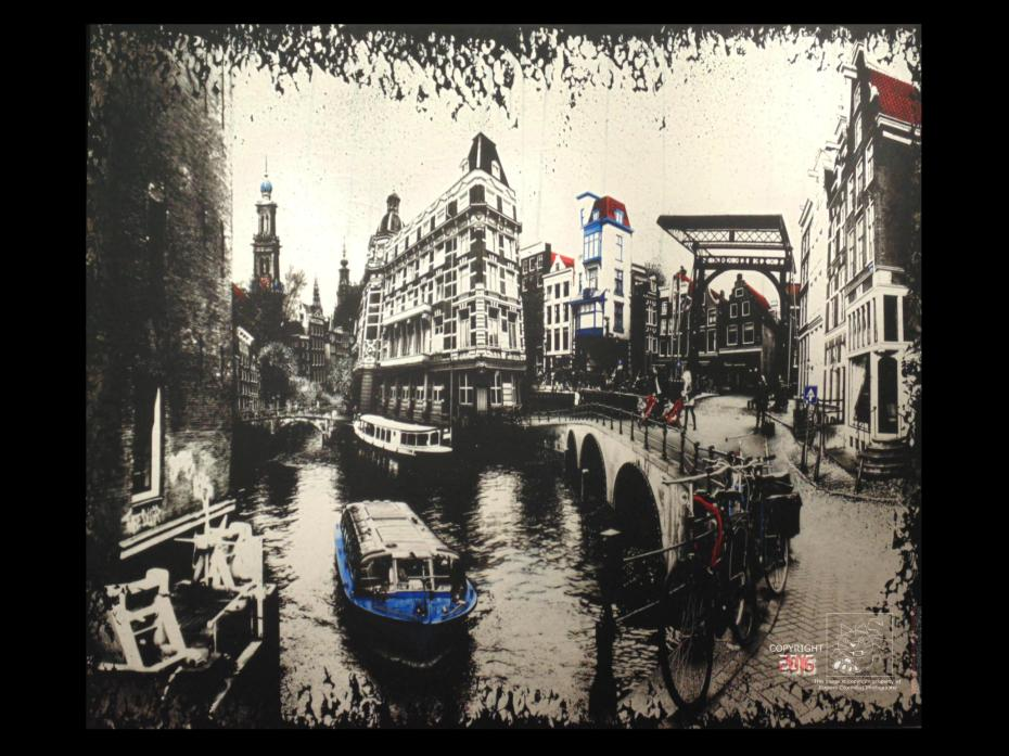 Dutch culture very evident in wonderful photography of Amsterdam's familiar landmarks and heritage sites.