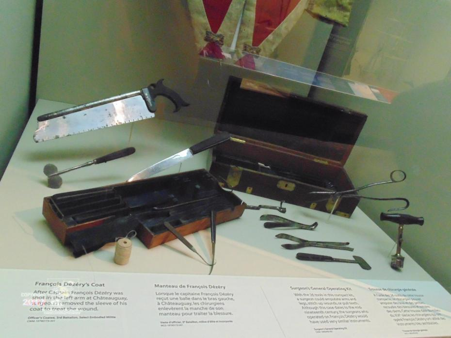 "Ancient surgical craft practiced by surgeon-medical officer mid-nineteen century used ""compact"" tool kit depicted."
