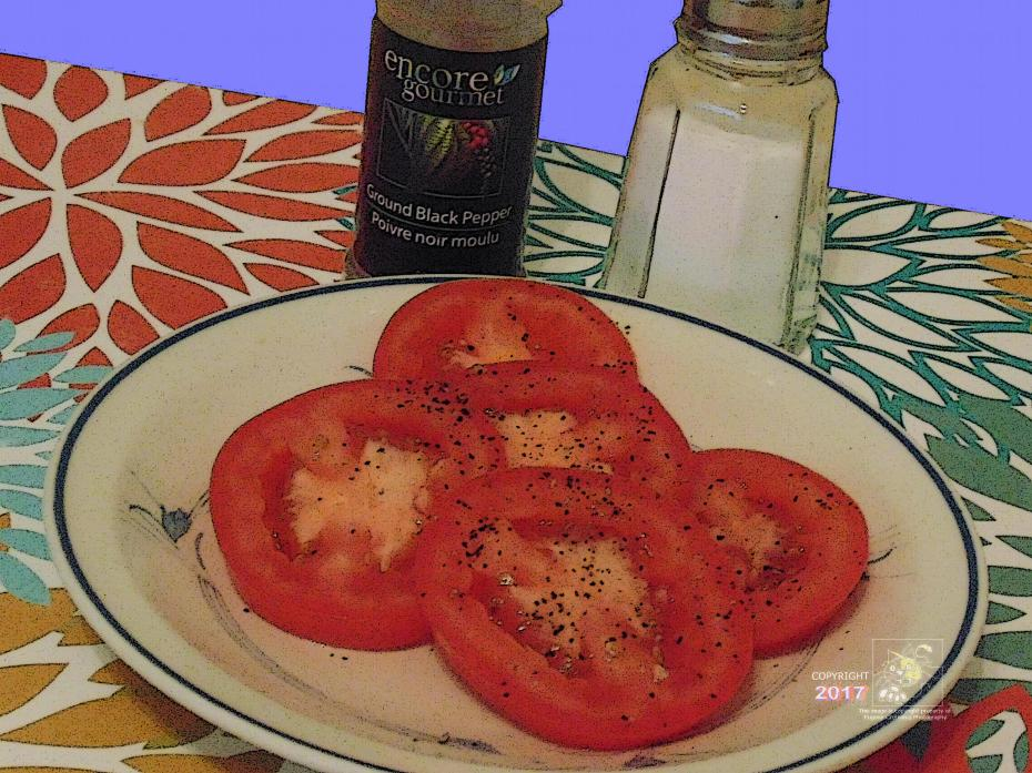 Fresh juicy tomato slices are fabulous enjoyed by North Americans everyday.
