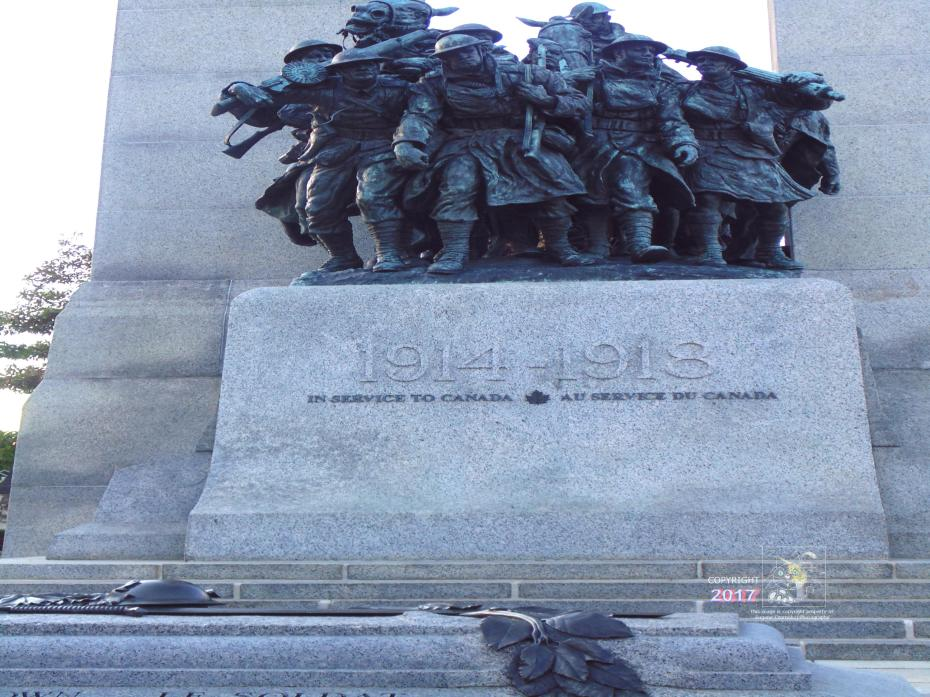 My wish for peace depicted in Ottawa's War Memorial reminds everyone of generation lost in hell of modern war.