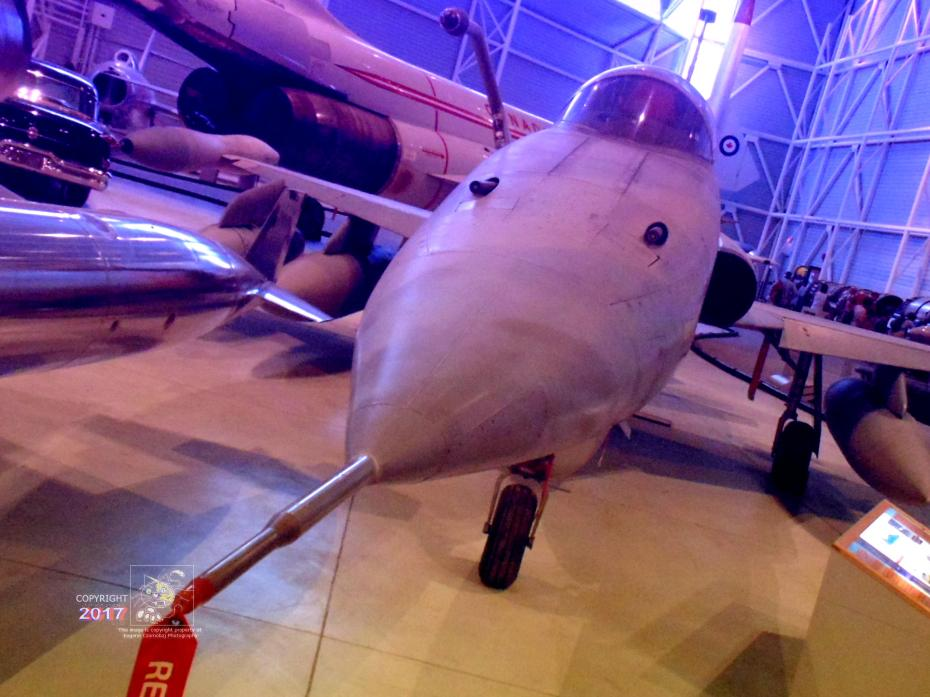 "Long extended nose with long probe and two 20mm cannons makes Canadian CF-5 ""Freedom Fighter"" an armed lethal spike."