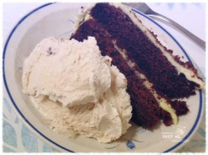 Object of denial during this time of year a temptation too hard to resist delicious lemon-chocolate cake and butter-pecan ice cream.