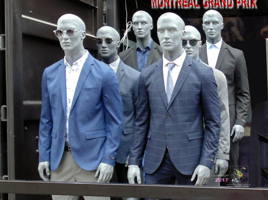 Six clones execute Republic Grand Army Order 151XD after time wormhole transport to 2017 Montreal Prix celebrations.