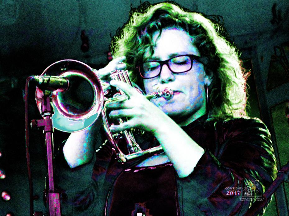 Rachel Therrien really concentrates delivering Jazz music crescendo during 2015 Montreal International Jazz Festival.