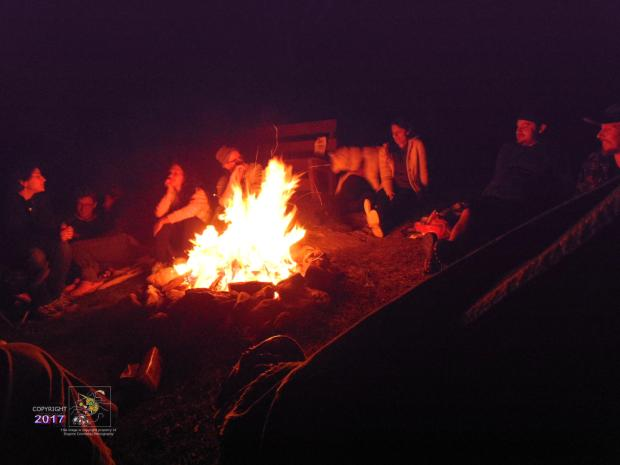 Labor Day ended enjoying night camp fire glow from intense flame and occasional sparks.