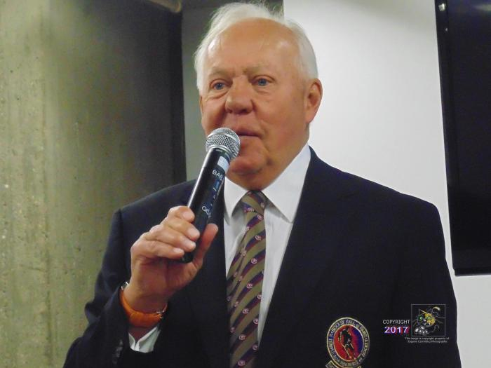 "Canadian hockey legend Ivan Cournoyer, the ""Road Runner"", speaks at 2015 SME private luncheon."