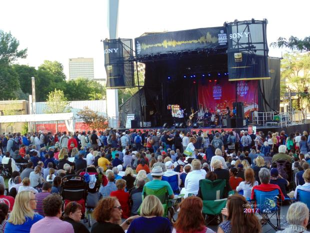 On warm, sunny, afternoon musical bliss reigned at Montreal Jazz Festival as Sugar Brown and band played.