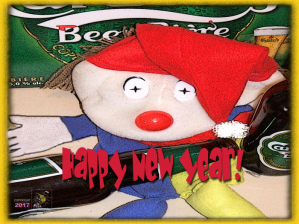 New Year finally arrives in only minutes yet many are already drunken slobs polluted like this fine fellow.