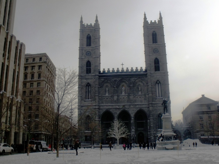 Notre Dame Cathedral is constant reminder of Quebec's Christian past.
