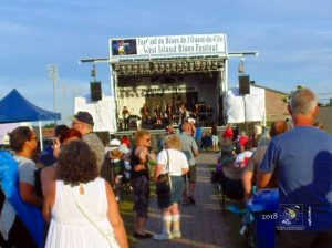 West Island Blues Festival fans congregate to hear well known singer Michelle Sweeney and band.