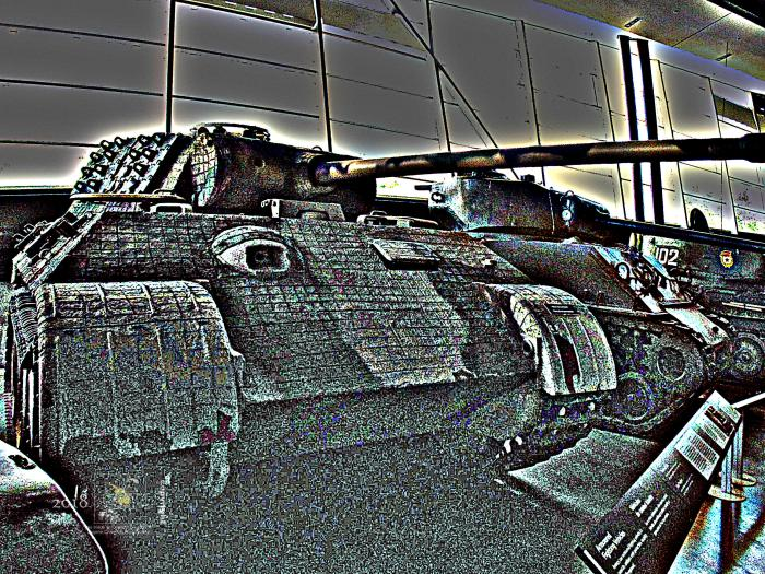 """The special """"Zimmerit"""" coating on famous WW2 German army Panther tank coating puzzled me."""