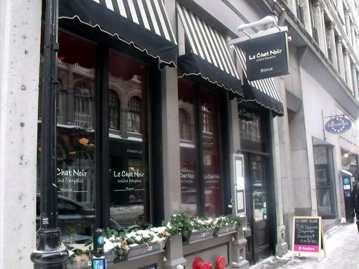 Establishments like Bistrot Le Chat Noir in old Montreal provoke memories of French Europe.