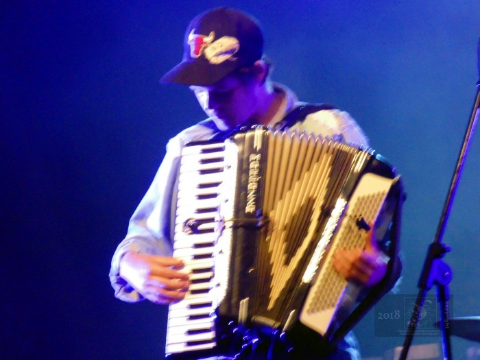 Young accordionist proved he was notable talent performing with his troupe during annual Fete Nationale du Quebec.
