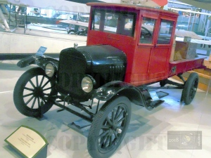 Three ton Ford truck like this one provided rapid hauling of aircraft delivered essential goods deep in northern Canada.