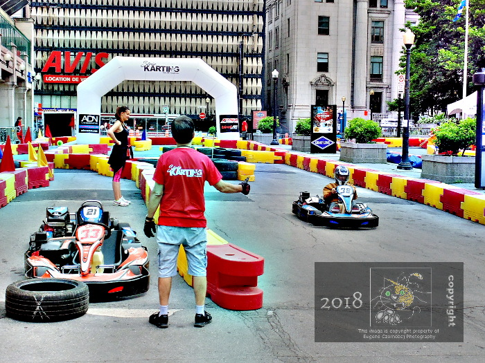 Scene depicts famous name car outfit flaunt their expert teamwork preparing for 2018 Montreal Grand Prix.