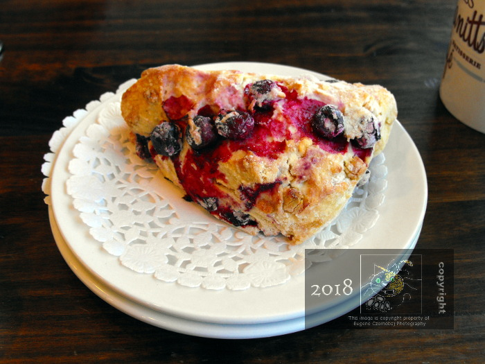 This delightful looking Miss Manitts blueberry integrated pastry morsel quietly awaited us to explore how delicious it tasted.