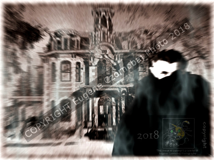 A reoccurring bad dream featuring same, familiar old house, spooky trees surrounding it and strange, cloaked, pale- white face appearing in that old worn, black and white picture.