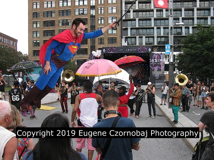 Superman flies off during Montreal Jazz Festival 2019