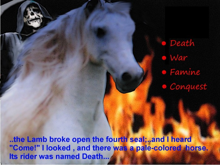 Death rides a pale-white horse
