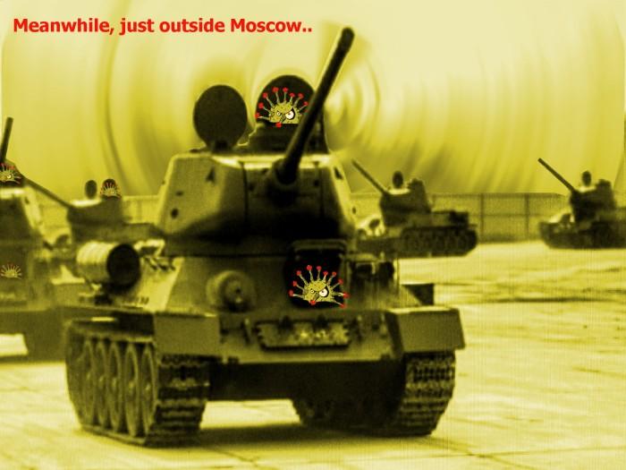 Moskwa May CoVid19 Parade