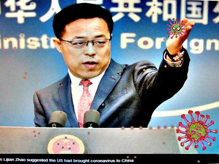 Smirking Lijian Zhao, China foreign affairs